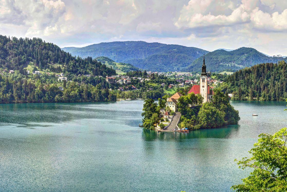 Фото бесплатно Озеро Блед Словения Блед - на рабочий стол