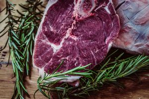 Фото бесплатно овощи, стейк, говядина