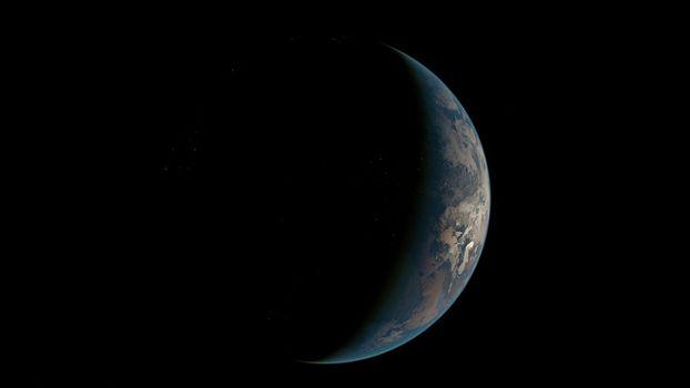 Фото бесплатно планета, тень, темный и светлый