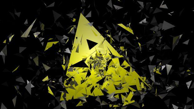Фото бесплатно частиц, абстракции, треугольников