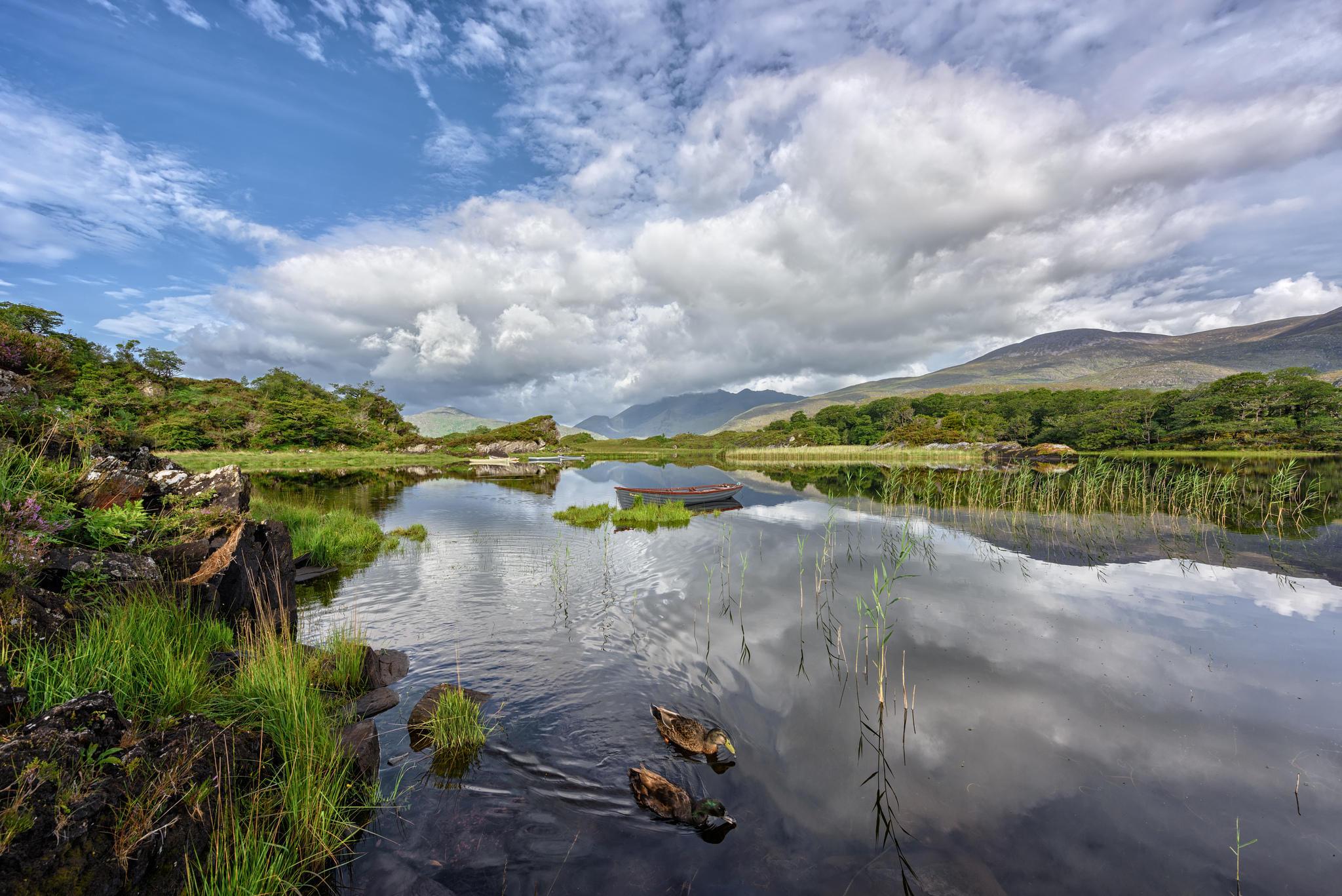 Обои Верхнее озеро, Национальный лес Килларни, королевство Керри, Ирландия