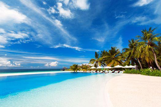 Фото бесплатно Мальдивские о-ва, бассейн, море