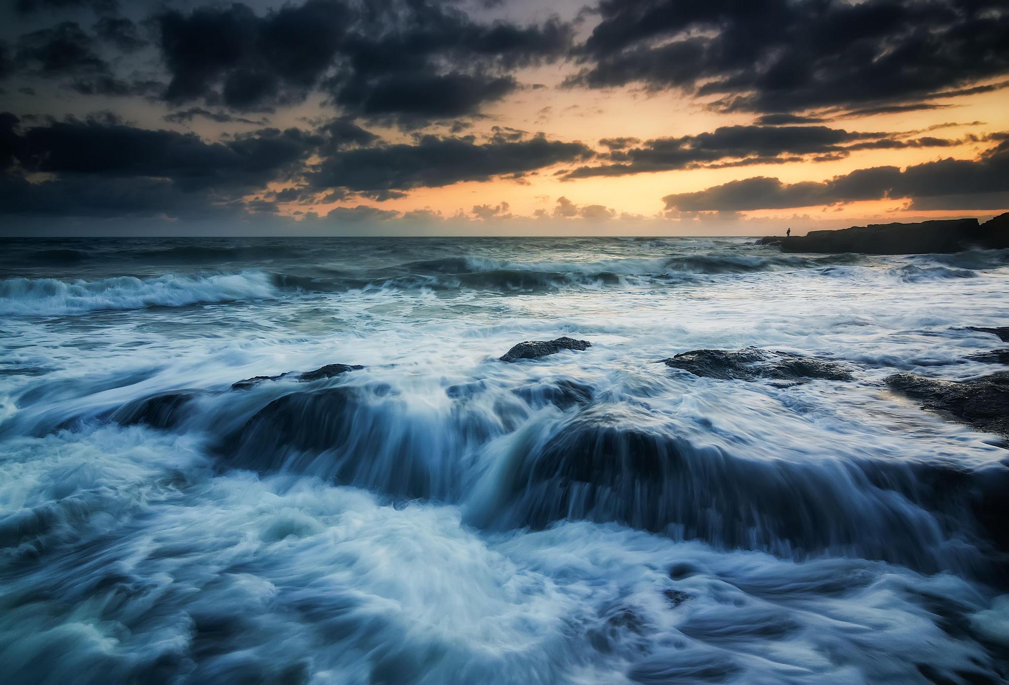 море, влны, берег, пляж, пейзаж