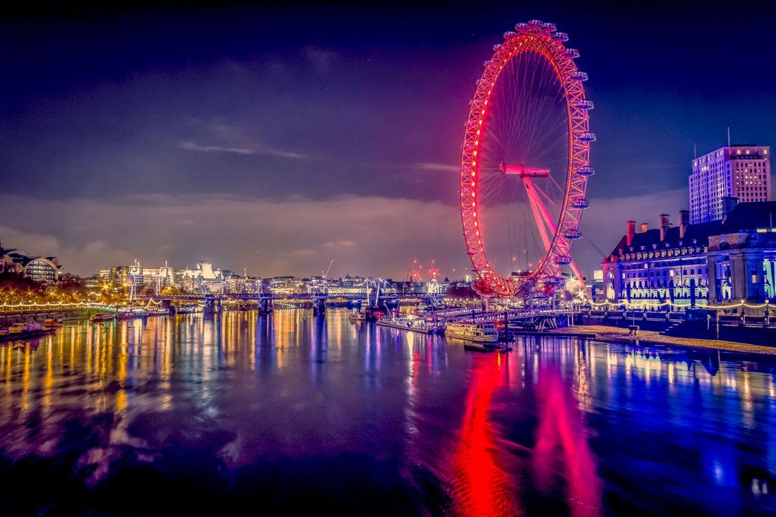 Фото бесплатно Westminster, London, Вестминстер, Лондон, ночь, иллюминация, город