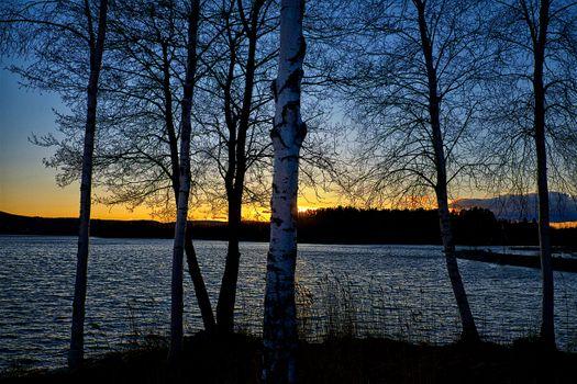Заставки Klockestrand, Sweden, закат