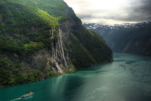 Photo free bay, glacial landform, rocks
