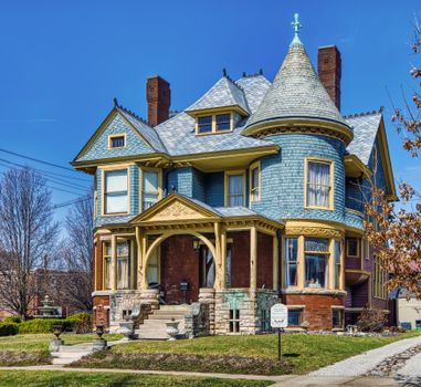 Photo free mansion in the USA, US city, mansion