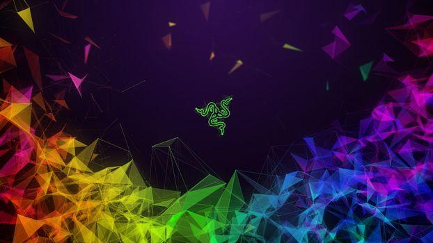Фото бесплатно компания Razer, игровые шестерни, низкополигональное