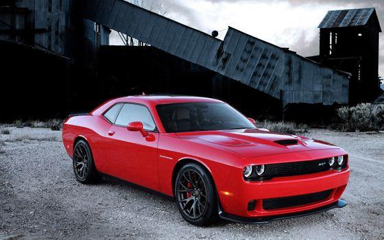 Photo free Dodge Challenger, Dodge, red