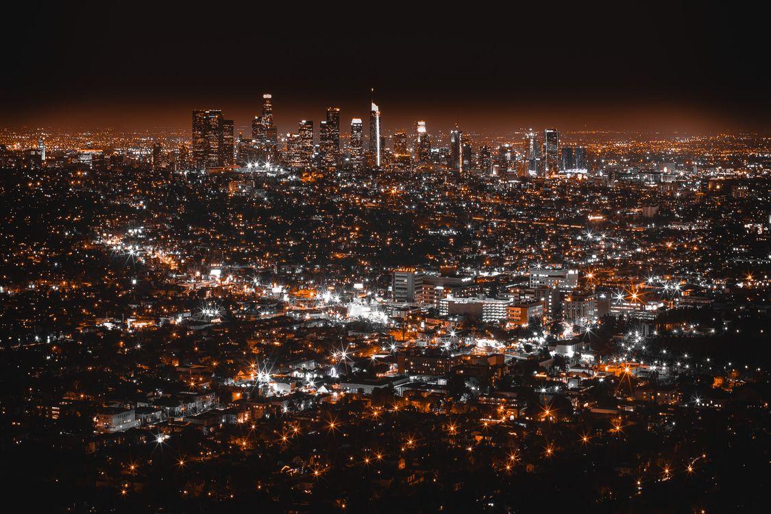 Ночной Лос-Анджелес · бесплатная заставка