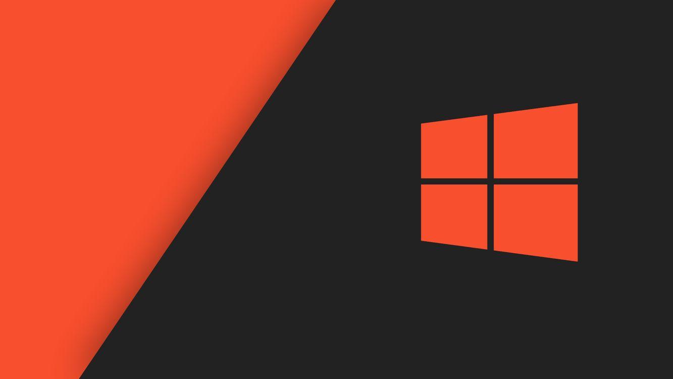 Фото бесплатно Windows 10, оранжевый, компьютер - на рабочий стол