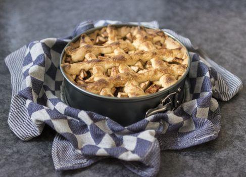 Фото бесплатно яблочный пирог, чаша, десерт
