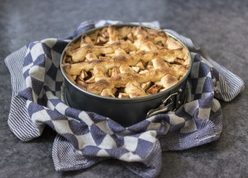 Photo free apple pie, bowl, dessert