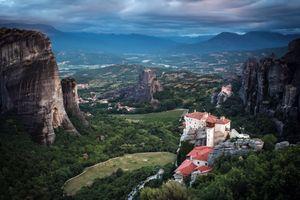 Бесплатные фото Каламбака,Греция,природа,пейзаж,Метеоры