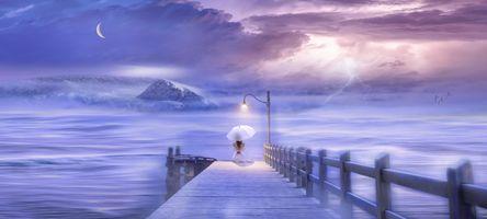 Фото бесплатно пейзаж, время сон, воды