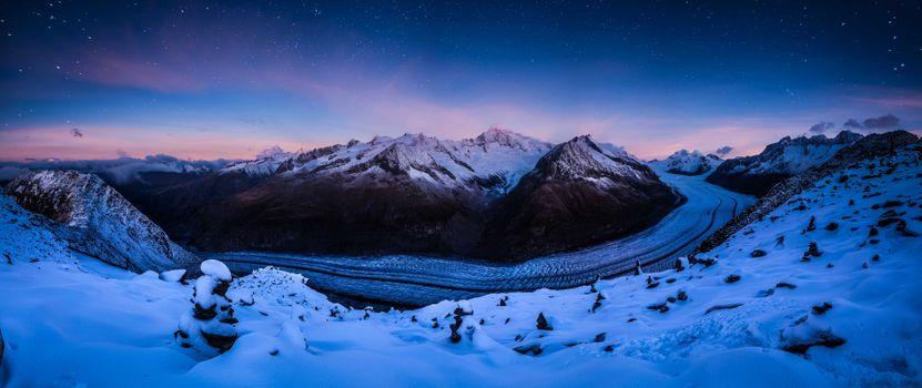 Фото бесплатно Switzerland, звезды, зима