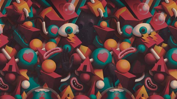 Фото бесплатно juan carlos paz -bakea-, геометрические фигуры, существо