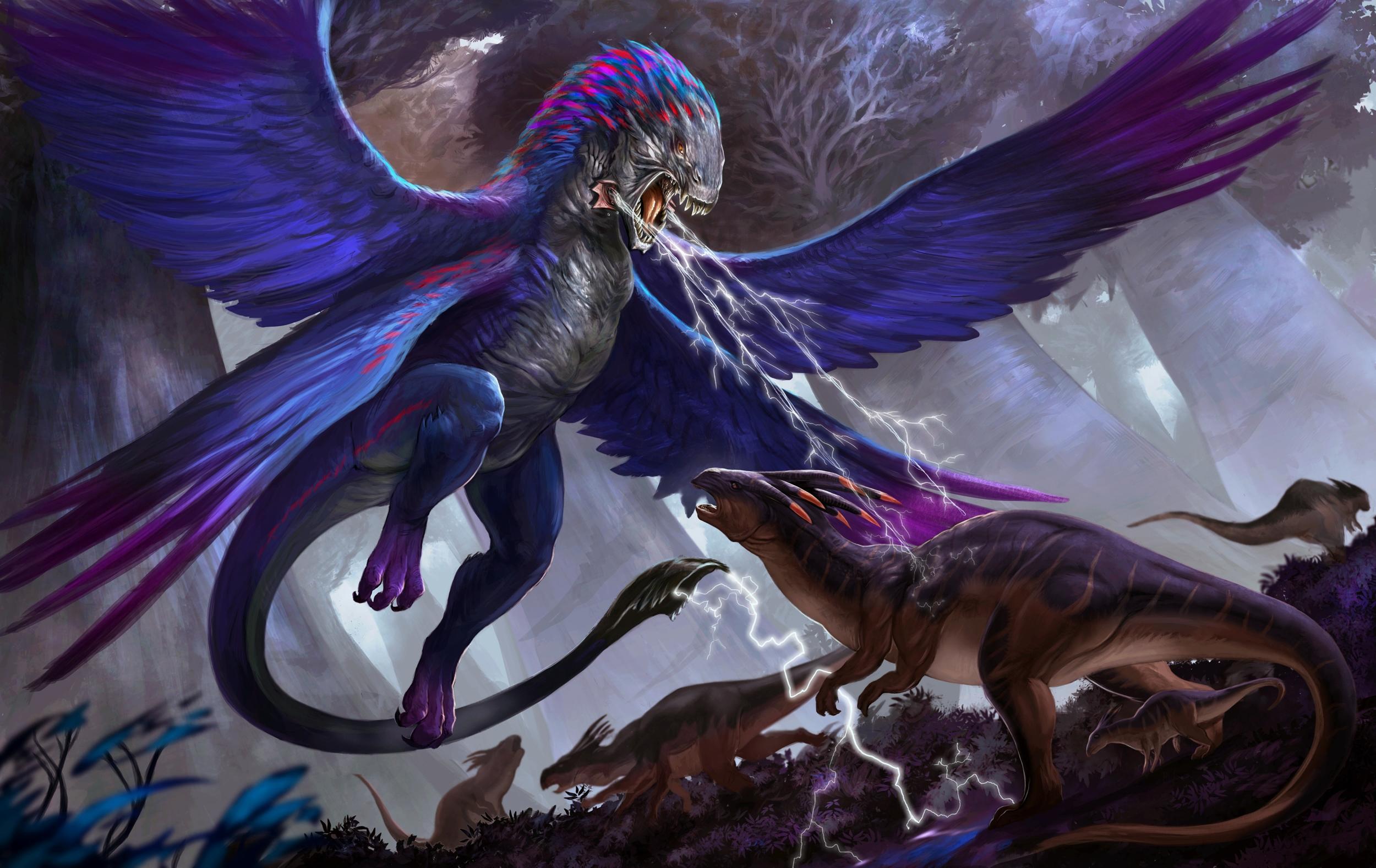 Обои Фульгур и гексакорн, драконы, монстры, фанастика