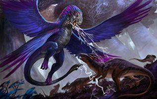 Фото бесплатно Фульгур и гексакорн, драконы, монстры, фанастика