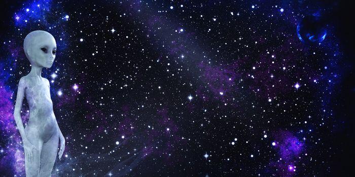 Заставки небо,космос,гуманоид,пространство,инопланетянин,планеты,фантастика,панорама