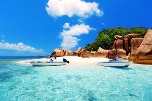 Бесплатные фото Сейшелы,тропики,море,остров,пляж,лодки