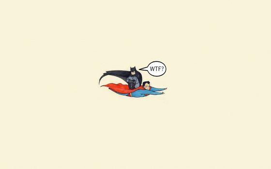Фото бесплатно бэтмен, супермен, супергерои