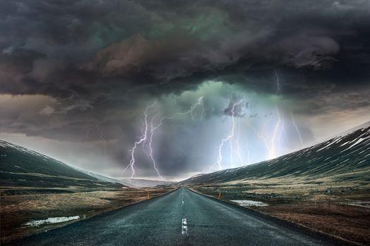 Photo free light, road, radiance