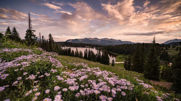 Photo free Sunset in Crested Butte, Colorado, lake