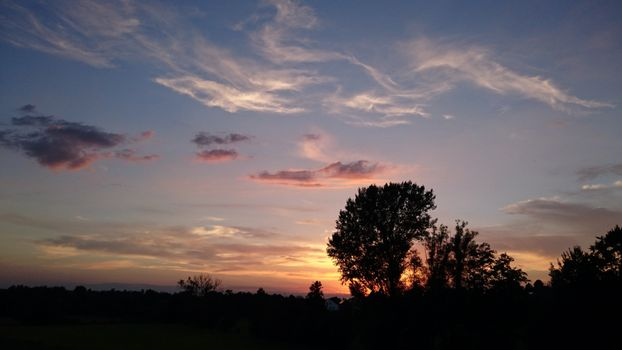 Фото бесплатно небо, облака, силуэт
