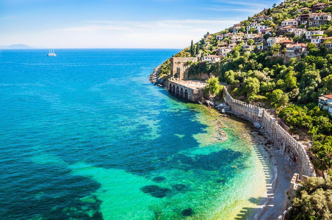 Фото бесплатно Турция, море, город - на рабочий стол