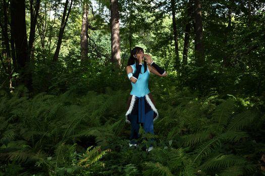Anya Voivodova in the woods · free photo
