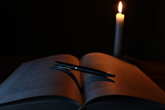 Photo free book, crayon, light