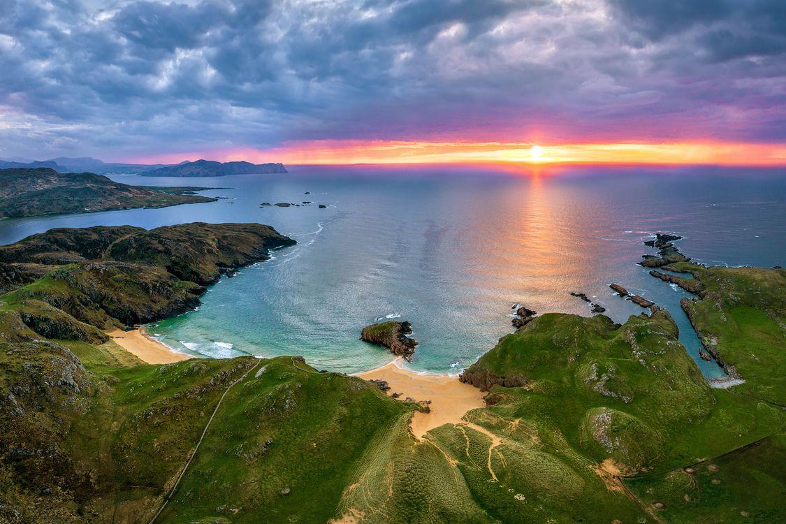 Photo nature Ireland sunrise and sunset - free pictures on Fonwall