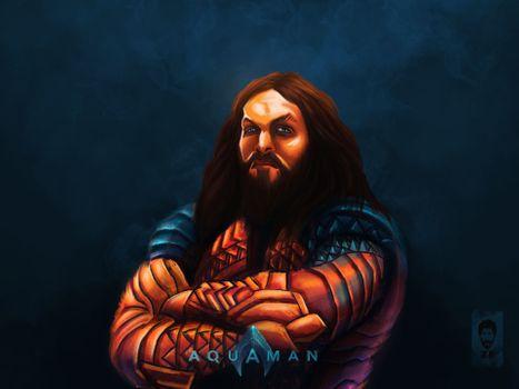Photo free Aquaman, artwork, artist