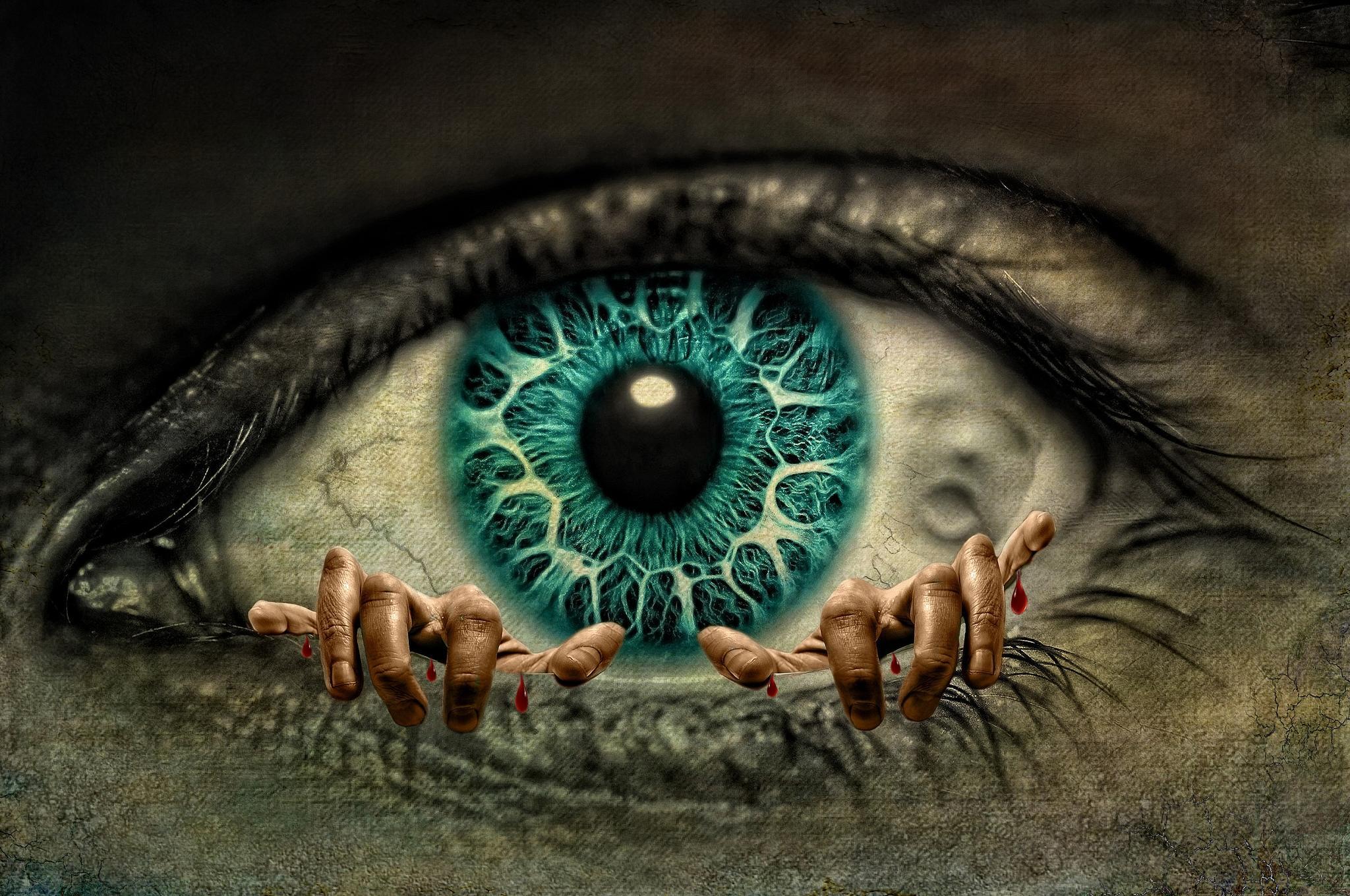 Обои глаз, руки, зрачёк, art