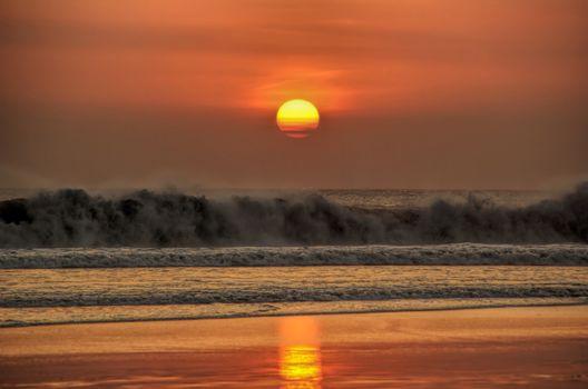Photo free water, bali, dusk