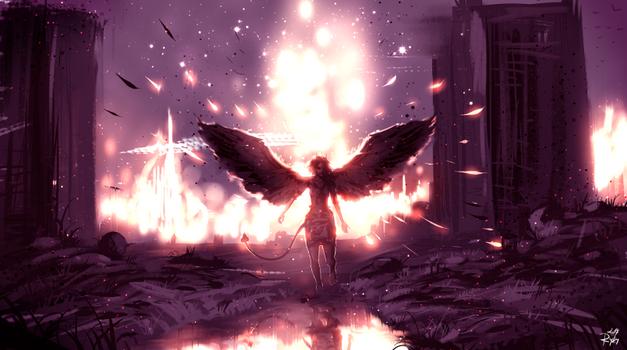 Заставки цифровое искусство, искусство фэнтези, крылья