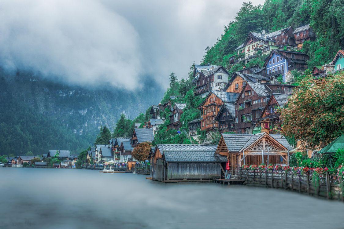 Обои Хальштатт, Hallstatt, Гальштат, Австрия на телефон | картинки город