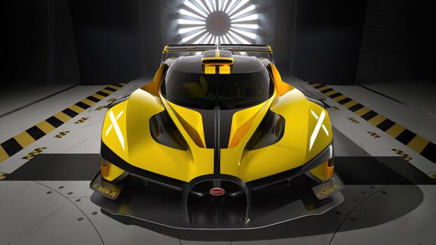 Photo free Bugatti Bolide, yellow, cars