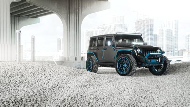 Photo free 4x4 cars, Jeep, side view