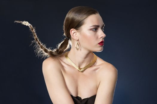 Photo free girls, pigtails, make-up