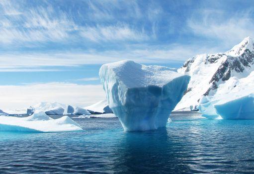 Заставки айсберг, природа, полярный