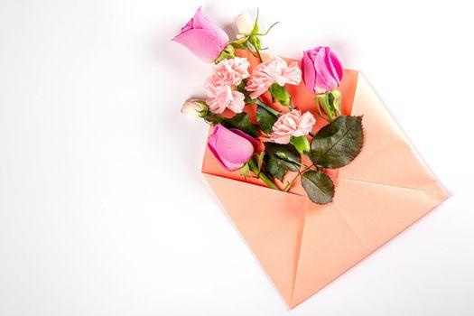 Фото бесплатно цветы, конверт, роза