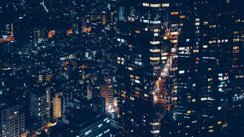 Ночной Минато Япония