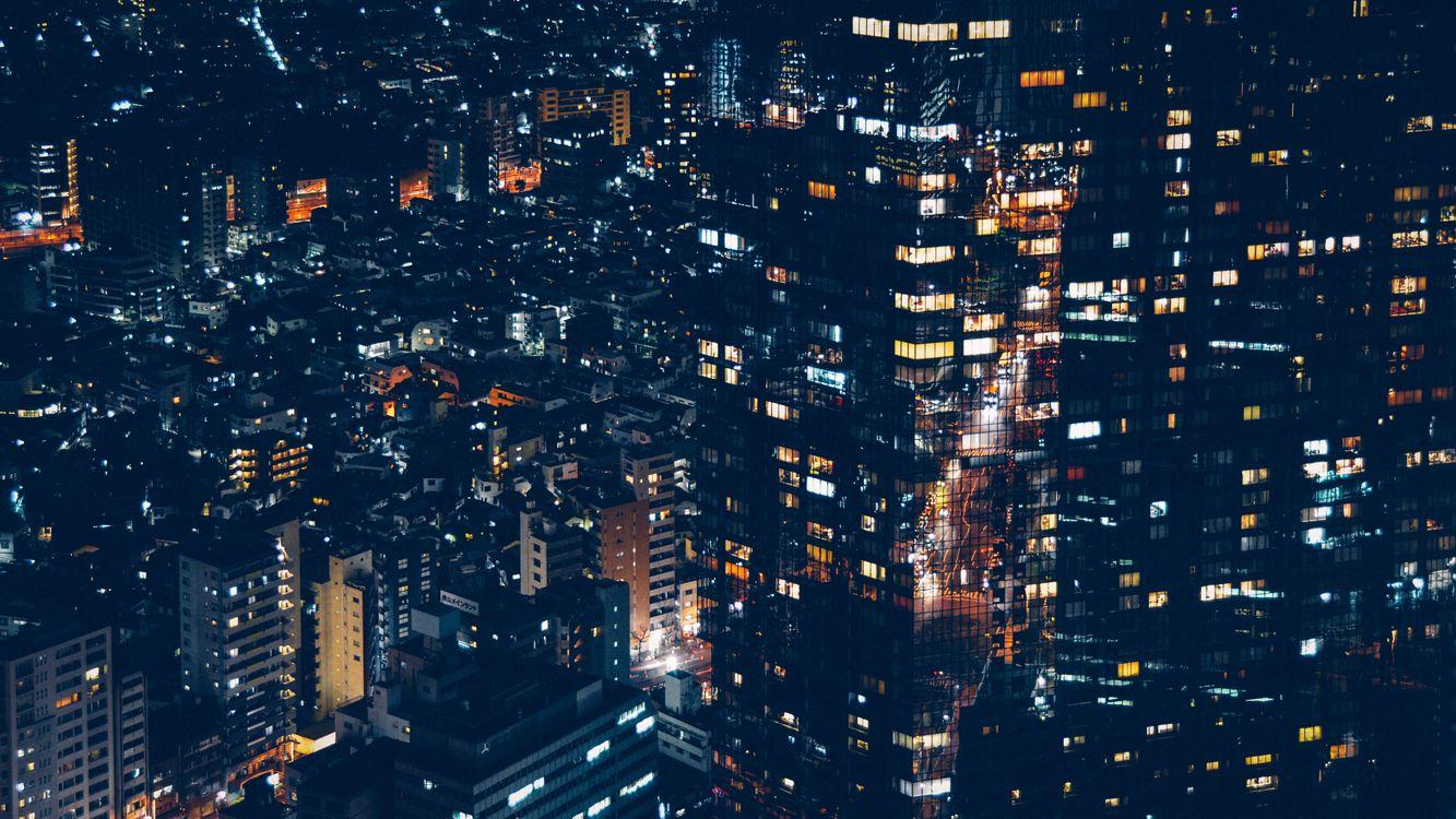 Ночной Минато Япония · бесплатное фото