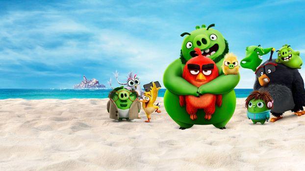 Фото бесплатно Angry Birds 2, пляж, герои