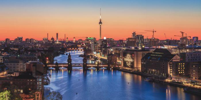 Photo free Berlin, Germany, sunset