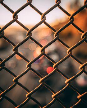 Забор, железная сетка