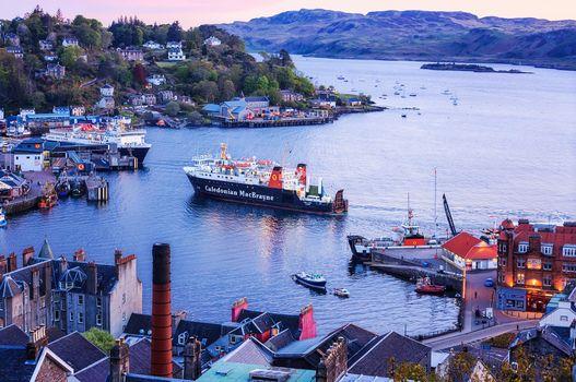 Заставки Обан гавань, Шотландия, Oban