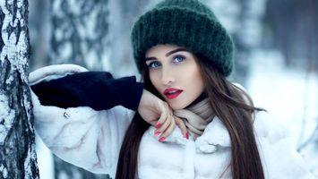 модель, красивая, детка, брюнетка, голубые глаза